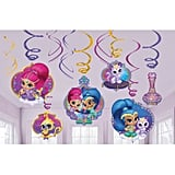 Shimmer and Shine Hanging Swirl Decorations