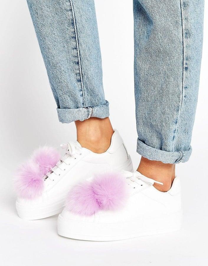 ASOS Dandelion Pom-Pom Sneakers