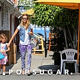 Jessica Alba and Honor Match in Prints and Denim For a Girls' Day