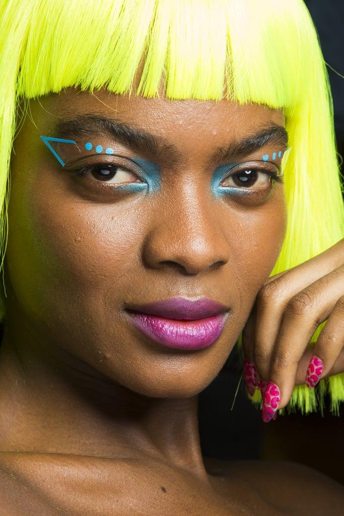 Geometric Neon Cat Eye and Wigs at Jeremy Scott