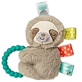 Taggies Sensory Stuffed Animal Soft Rattle with Teether Ring