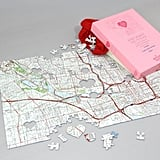 "Personalized ""We First Met"" Map Jigsaw Puzzle"