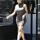 Kim Kardashian Wearing Gray Tank Dress in LA July 2016