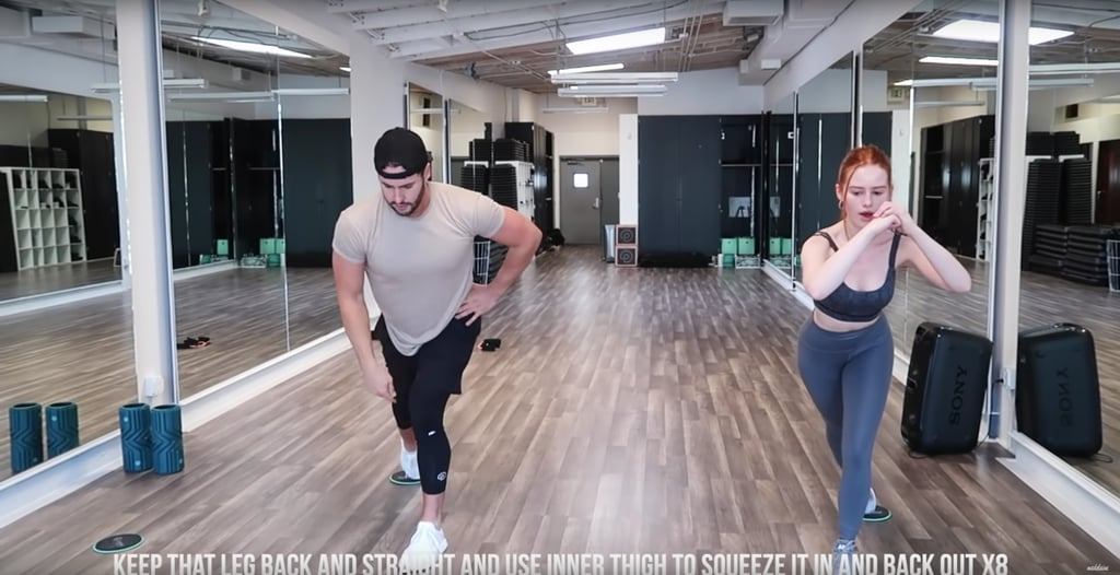 With your leg still straight back in the 6 o'clock position, use your inner thigh to help squeeze it inward and back out. Then — you guessed it! — repeat the previous three exercises for the other leg.