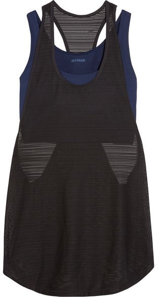 Ivy Park Layered Ribbed Mesh Tank