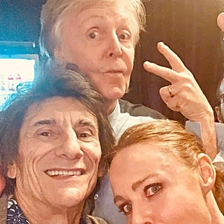 Paul McCartney, Ringo Starr, and Ronnie Wood Selfie 2018