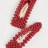 BaubleBar Scarlett Imitation Pearl Hair Clip Set