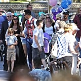 Victoria Beckham and David Beckham took their gang to Disneyland.