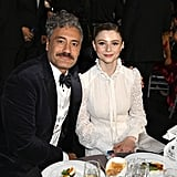 Taika Waititi and Thomasin McKenzie at the 2020 Critics' Choice Awards