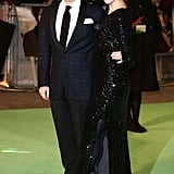 Martin Freeman hit the green carpet with partner Amanda Abbington.