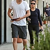 Ashton Kutcher and Mila Kunis were in LA.