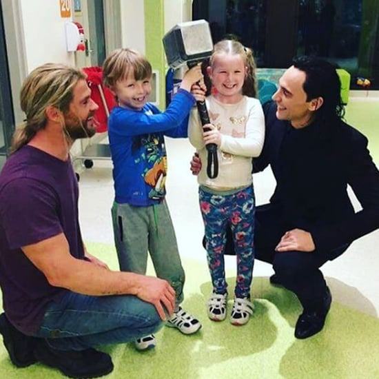 Chris Hemsworth and Tom Hiddleston at Children's Hospital