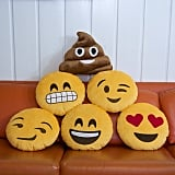 Emoji pillows ($20)