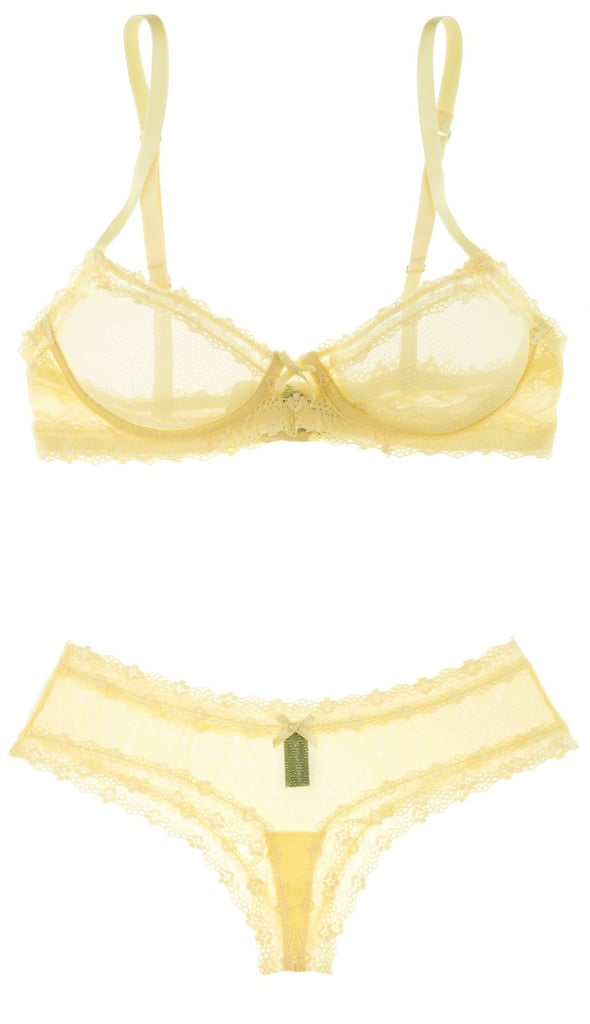 Jenna Leigh Memba Yellow Lace Bra and Underwear