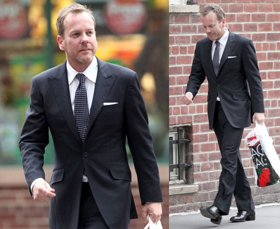 Pictures of Kiefer Sutherland in Suit in NYC as Exec Producer Gives Hint at 24 Finale Ending Without Spoilers Here