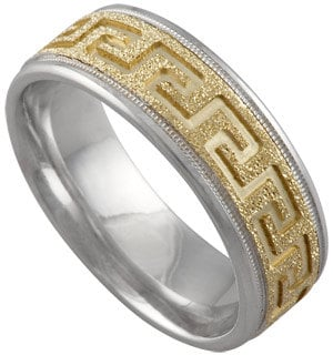 Mens 6mm Gold Wedding Band