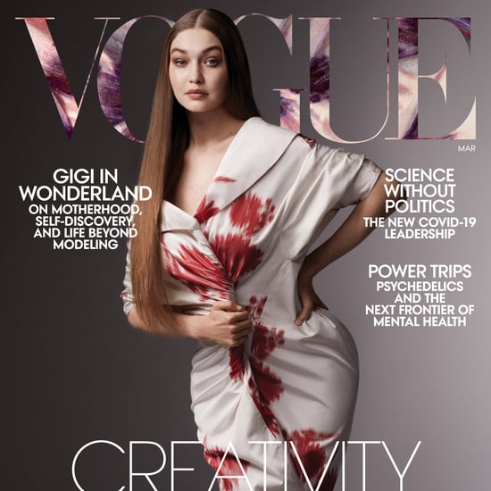 Gigi Hadid's Outfits in Vogue Magazine Cover Post Baby Khai