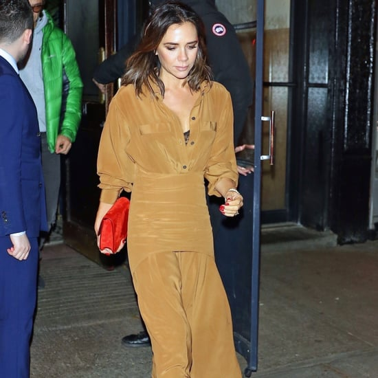 Victoria Beckham Red Tweed Heels November 2018