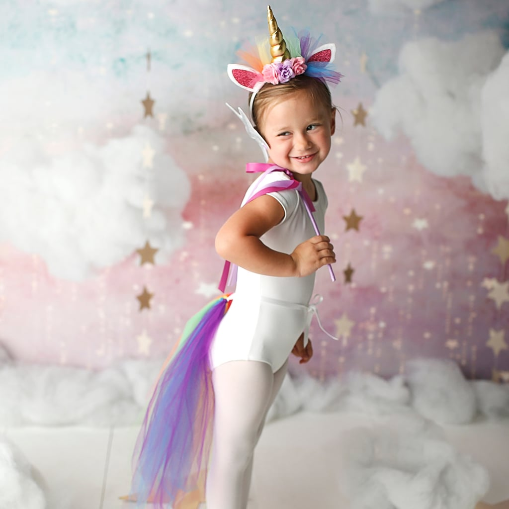 This unicorn headband and tail set ($36) is simple but adorable and is available on Etsy!