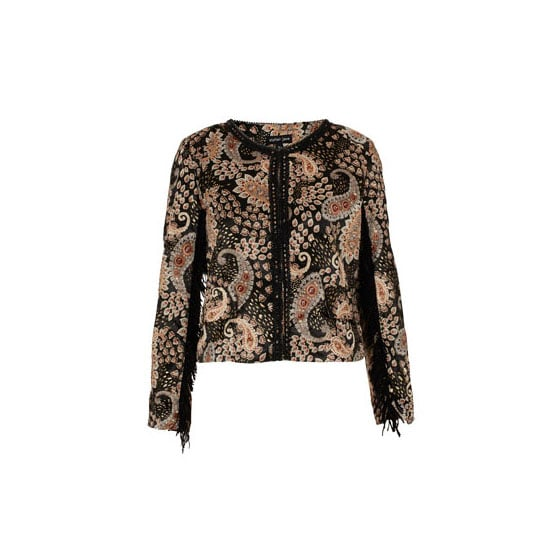 I love a bit of fringing, so the fact that Tom Ford gave it the green light for A/W is serously floating my boat. Especially when combined with a ethnic-inspired print. — Ali, FabSugar editor Jacket, approx $108, Topshop