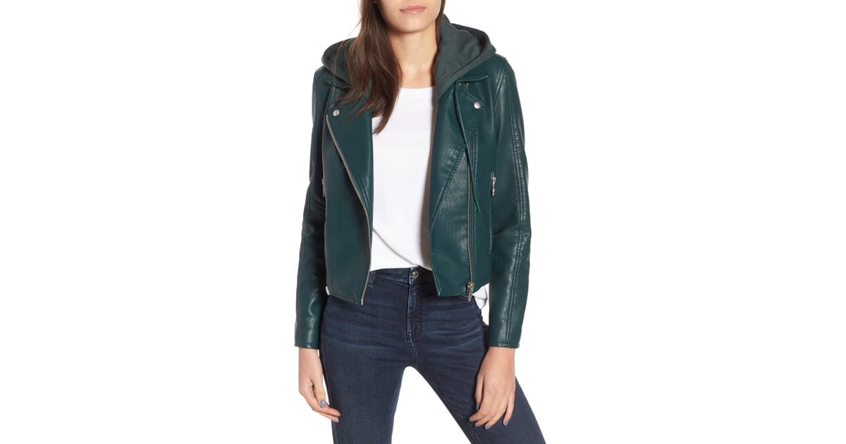 68854a443 BlankNYC Meant to Be Moto Jacket With Removable Hood | Best Gifts ...