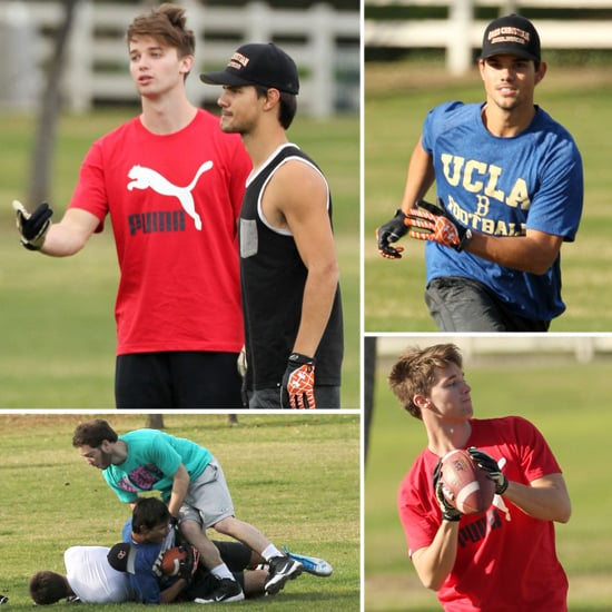 Taylor Swift's Exes Patrick Schwarzenegger and Taylor Lautner Get Physical