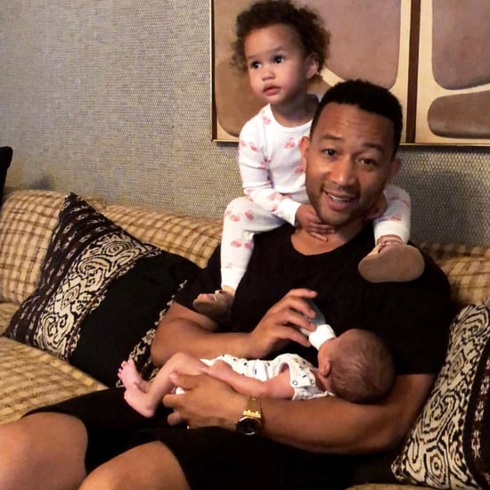 John Legend With Luna and Miles July 2018