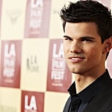 Taylor Lautner looked serious at the A Better Life screening in LA.