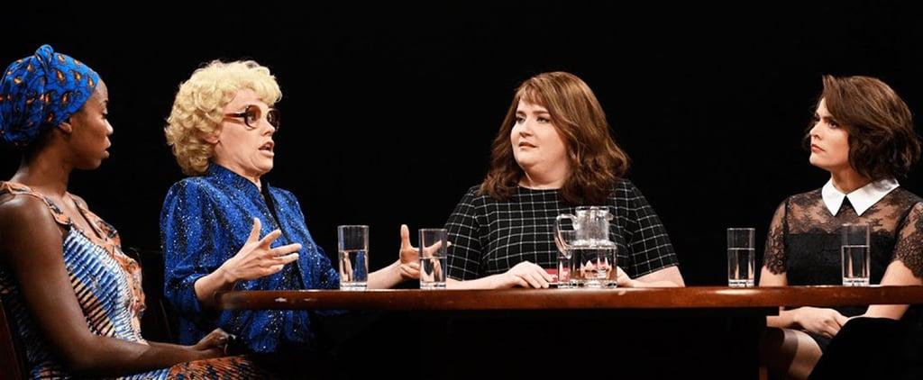 Margot Robbie Breaks Character With Kate McKinnon During SNL's Season Premiere