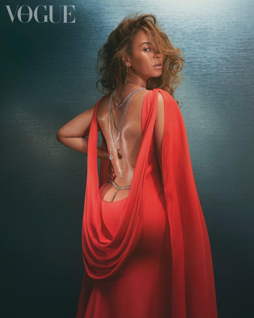 Beyoncé Wears a Custom Christopher John Rogers Gown For British Vogue
