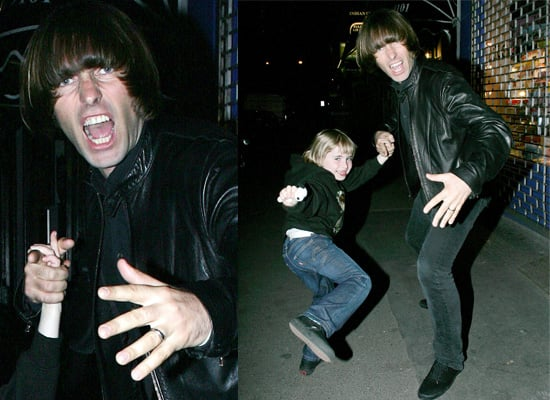 Liam Gallagher And His Son Gene Play Kung-Fu Style On A London Street