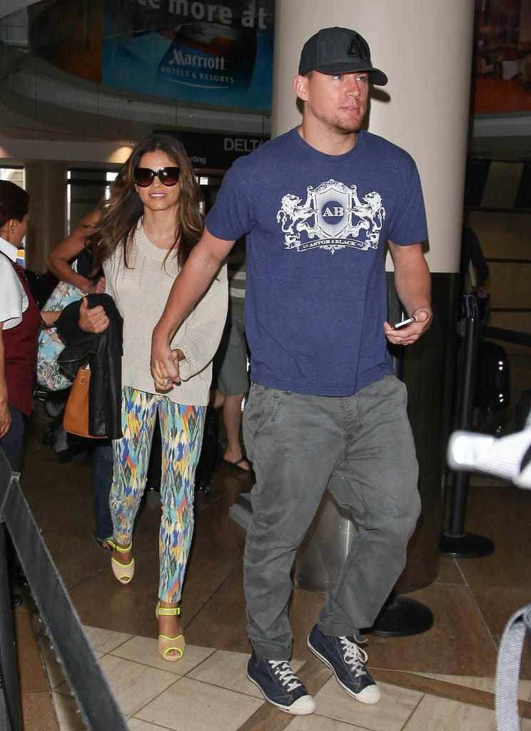 Channing Tatum and Jenna Dewan at LAX Pictures | POPSUGAR ... ченнинг татум