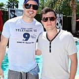 Josh Hutcherson and Josh Henderson got together at the Guess party on Saturday afternoon.