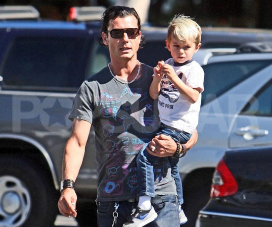 Slide Photo of Gavin Rossdale and Kingston Rossdale Together in LA