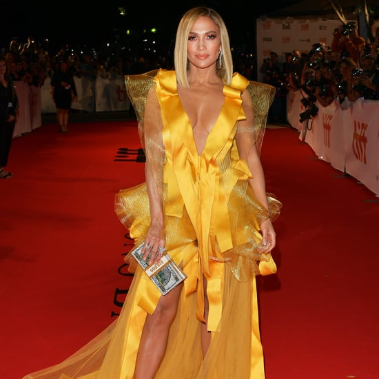 Jennifer Lopez Wears Yellow Gown to Hustlers TIFF Premiere