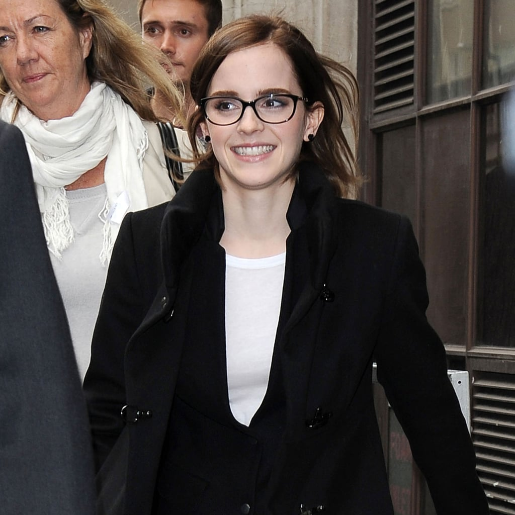 Emma Watson Dress and Pants Pictures at London Screening of The Perks of Being a Wallflower