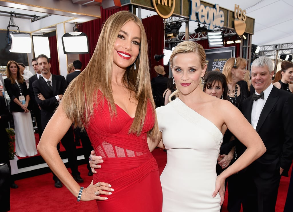Sofia and Reese posed together on the red carpet at the SAG Awards back in January.