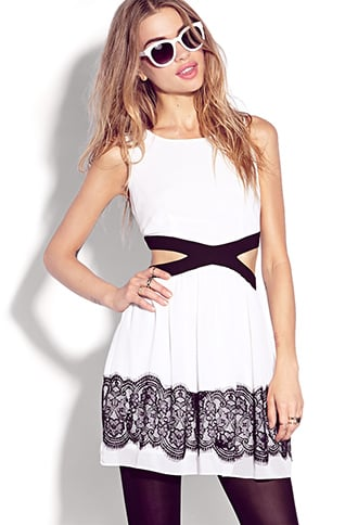 No one will ever suspect that this Forever 21 Ultra-Femme Cutout Dress ($25) rings in under $30!