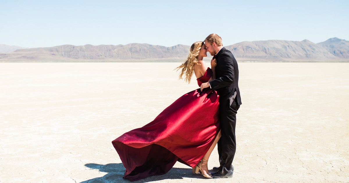 We Don't Know What's Hotter:the Desert Setting of This Engagement Shoot or the Couple's Chemistry