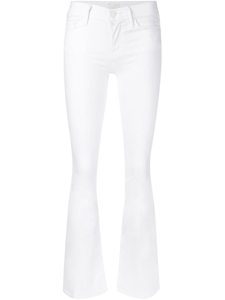 Great jeans are a Summer staple to have in any capacity, but there's something extra special about a high-waisted flared version this season.  Mother high waist flared jeans ($185)