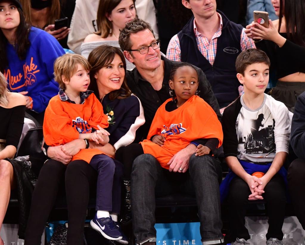 Peter Hermann and Mariska Hargitay With Family at Game 2018