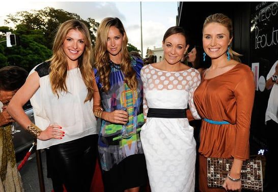 Laura Csortan, Nikki Phillips, Michelle Bridges and Magdalena Roze