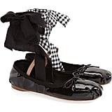 Miu Miu Lace-Up Ballet Flat ($550)