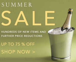 Sale Alert: Serious Summer Sale at Gump's