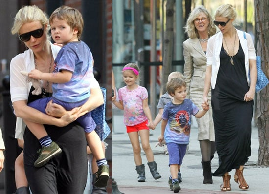 Pictures of Gwyneth Paltrow With Apple and Moses Martin in New York City