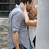 In September, Blake Lively showed off her huge oval wedding ring during a passionate kiss with new husband Ryan Reynolds one day after their secret ceremony in Charleston, SC. — Meghan Rooney, editorial assistant Source: Alex Gutierrez