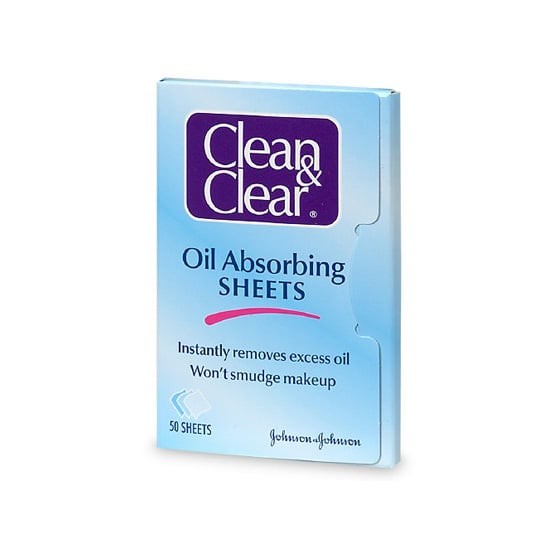 The drugstore classic Clean & Clear Oil Absorbing Sheets ($5) are a frugal find that remove your layer of shine in a flash.