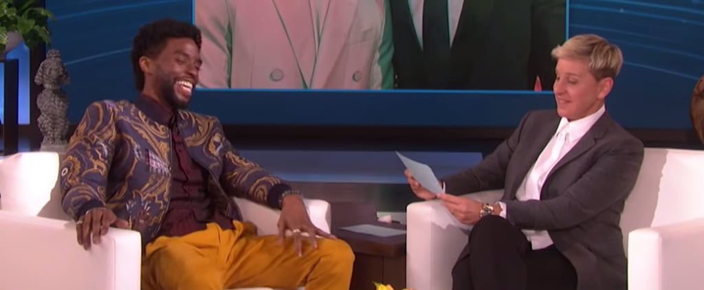Chadwick Boseman Gets Quizzed on His Costars on Ellen Show