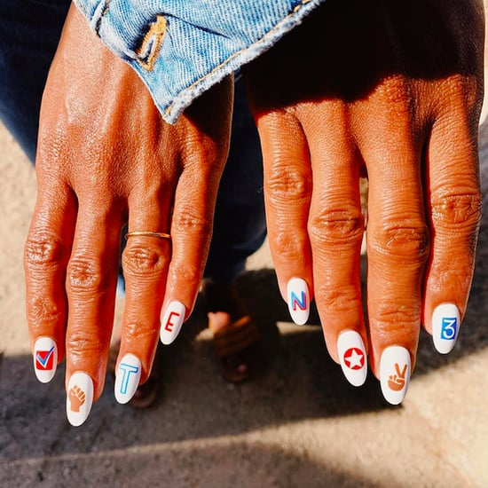 Kerry Washington's 2020 Election-Themed Nail Art