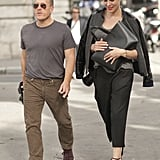 Power couple Scott Schuman and Garance Doré kept it easy chic while bouncing from show to show.